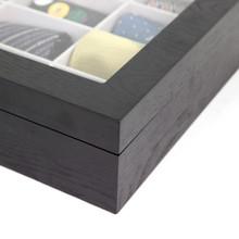Tie Box by TechSwiss | Tie storage case | Necktie storage case | TIEBOX1BK - Finish