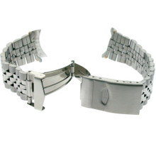 Stainless Steel Metal Watch Band - 18-22 mm End Pieces