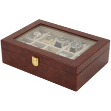 Burl Wood Watch Case with Display Window | TechSwiss TSAA31-576 | Main