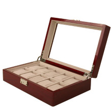 Cherry Watch Box for 10 Watches - Open View