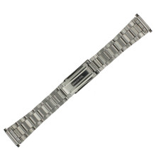 Watch Band Oyster Style Link Stainless Steel Metal Mens- 18mm