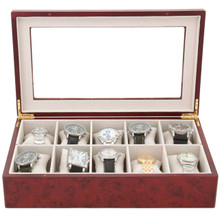 Montego XL Watch Box in Burlwood
