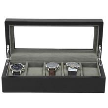 5 Watch Box Black Open Front TSBOX6100ESSBK