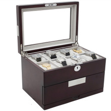 16 Watch Box | 16 Watch Storage Case | TechSwiss | Open