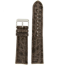Watch Band Genuine Crocodile Taupe Brown Padded Stitched