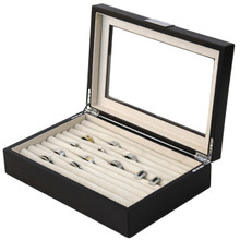 Modern Ring Box | Wood Ring Box | Mens Ring Organizer | TechSwiss TSRB620ESSBRN | Main