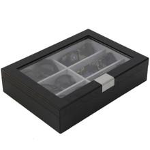 Sunglass Display Case | Wooden Eyeglass Box | Sunglass Storage | TechSwiss TSSG500ESSBK | Side