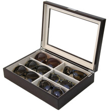 Eyeglass Case for 6 glasses by TechSwiss - Top View Open