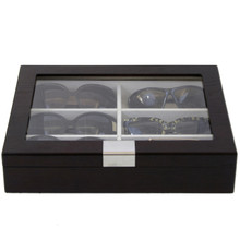 Eyeglass Case for 6 glasses by TechSwiss - Front View Closed