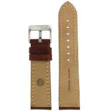 Brown Leather Watch Band | TechSwiss LEA1620 | Interior
