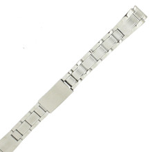 Ladies 12 mm Watch Band Metal Link Stainless Steel