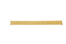 Ladies Stretch Watch Band Gold Tone Side View TSMET190