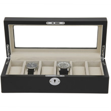 Watch Box Black Front View TSBOX6100BLACK