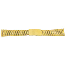 Watch Band Jubilee Style Link Metal Gold-Tone w. Straight Ends