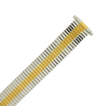 Watch Band Expansion Metal Stretch Two Tone Silver-Gold Tone
