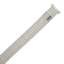 Watch Band Expansion Metal Stretch Silver-tone Curved End
