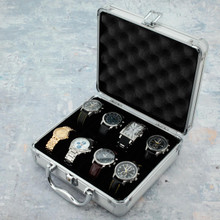TechSwiss Silver Aluminum Watch Case in Small -TSBOXAL8