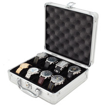 Aluminum Watch Case - 8 Watch Box - TechSwiss - TSBOXAL8 - Front View