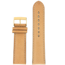 Beige Mens Leather Watch Band LEA1363