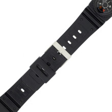 20mm Watch Band Sport Replacement Plastic Black Compass PLABAN3