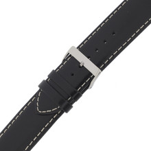Mens Water Resistant Black Watch Band Waterproof LEA476