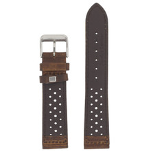 Dark Brown Leather Watch Band Mens TSA420