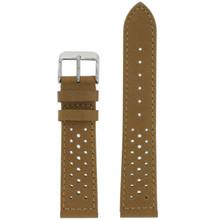 Light Brown Leather Watch Band Mens TSA420