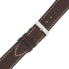 Watch Band Water Resistant Leather Brown LEA479