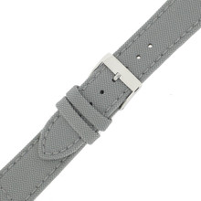 Gray Canvas Watch Band | Gray Sport Water Resistant Watch Straps | TechSwiss LEA1200 | Buckle