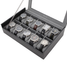 Carbon Fiber Watch Box | TechSwiss TS700CF | Open Full