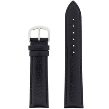 Black Mens Leather Watch Band LEA1433