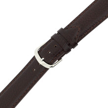 Brown Mens Leather Watch Band LEA1434 | Dark Brown Traditional Leather Watch Band | TechSwiss | Buckle