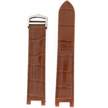 Brown Leather Alligator Grain Pasha NON ORIGINAL Watch Strap | LEAPALBRN | Main