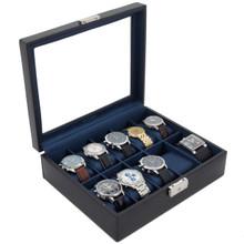 Blue Watch Box | TechSwiss TS3736NY | Black and Blue Watch Box | Side