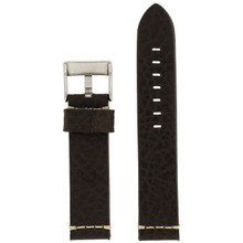 Dark Brown Watch Strap Thick | TechSwiss LEA1376-22SS | Back