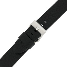 Mens Black Watch Strap Thick | TechSwiss LEA1377-22SS | Buckle