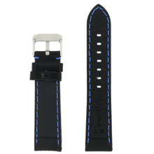 Blue Black Padded Watch Strap | TechSwiss TS581-22SS| Back