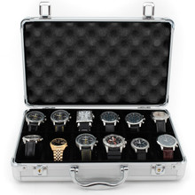 Aluminium Watch Case for 12 Watches