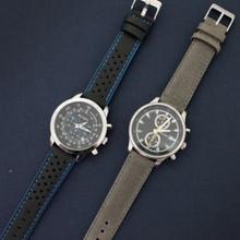 Grey Vintage Leather Watch Strap | Textured Grey Leather Watch Band | Distressed Gray Leather Watch Band | TechSwiss Grey Watch Strap | Sample 2