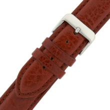 XXXL Extra Long Polished Leather Watch Band Brown