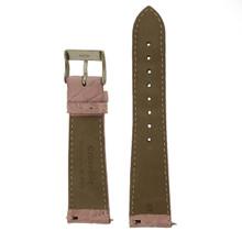 Genuine Crocodile Pink Pale Watch Band Padded Built-In Spring Bars Ladies Length