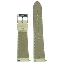 Genuine Crocodile Champagne beige/cream Watch Band Padded Built-In Spring Bars Ladies Length