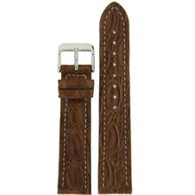 Brown Genuine Crocodile Watch Band Matte | TechSwiss  LEA852 | Main