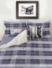 Blue Plaid Horse Bits Boys Bedding Set