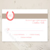 Lucky in Love Equestrian Wedding RSVP card