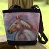 Horse head art tote bag