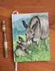 Mom and Baby Donkey Hardbound Journal
