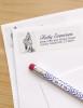 Graphite Akhal-Teke Horse Artwork Return Address Labels