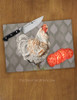 Rooster Art Farmhouse Themed Glass Cutting Board
