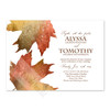Fall Wedding Maples Leaves Watercolor Invitation